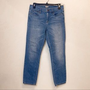 J Crew Stretch Cropped Hi Rise Ankle Skinny Jeans